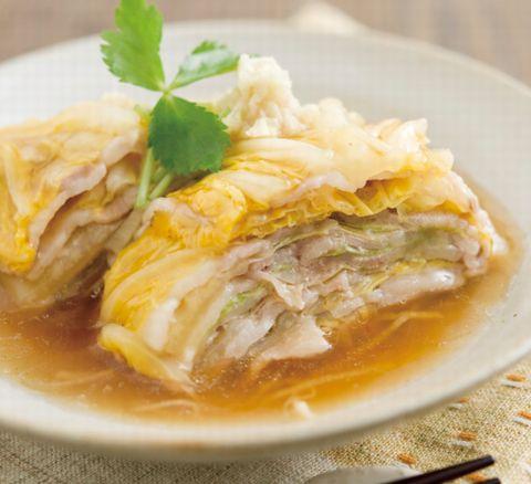 マルシェなレシピ 豚肉と白菜の重ね蒸しあんかけ